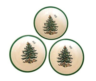 Spode England Christmas Tree Ice cream cereal fruit dish bowl 6.25-inch S3324-A1