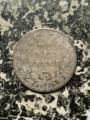 1885 Great Britain 6 Pence Sixpence Lot#Z6109 Silver!