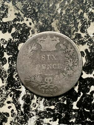 1834 Great Britain 6 Pence Sixpence Lot#Z6111 Silver! Low Grade