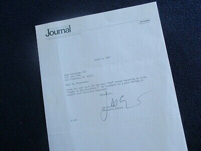 "1987 Jan Goodwin (Womans Rights) Signed ""Caught in the crossfire content"" letter"
