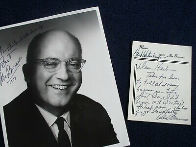 1974 Abe Burrows (Humorist,Author,Director,Pulizer Prize),Signed photo,letter