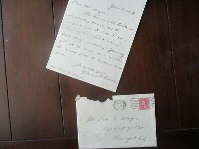1917 Archbishop of New York (Cardinal) John M. Farley Wants vistor letter,Cover!