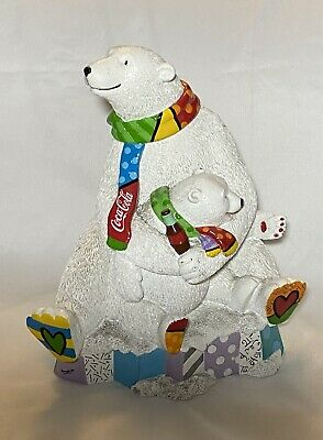 Romero Britto Coca Cola Bear And Cub: Extremely Rare!!