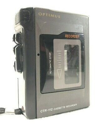 Vintage Optimus Cassette Tape Recorder CTR-112 Radio Shack .