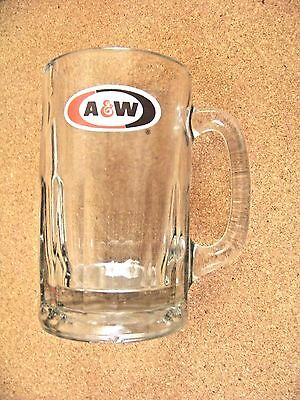 A & W glass handled cup mug tankard A&W root beer - chipped base