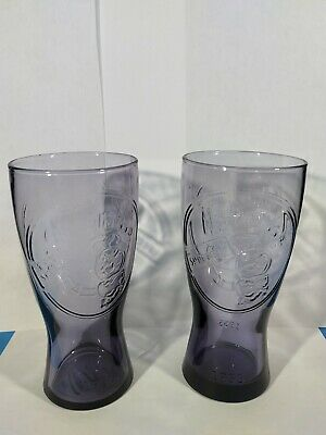 Vintage McDonald's Colored Glass Collector Cups 16oz (lot of 2) 1955