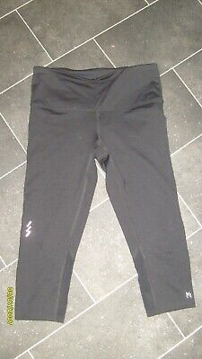 Next Casual Black Stretchy Fitness 3/4 Length Leggings Size 10 L18 Must L@@K!!
