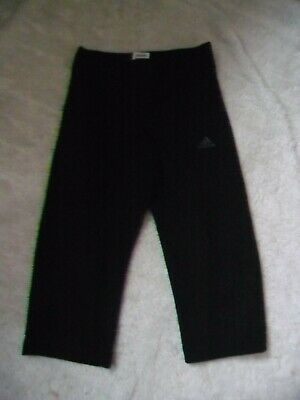 "Adidas Clima Lite Casual Black Fitness 3/4 Trousers Size 10 L16""  Must L@@K!!"