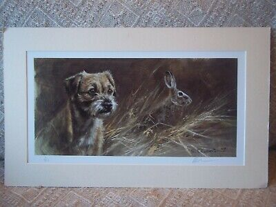Mick Cawston Border Terrier signed print