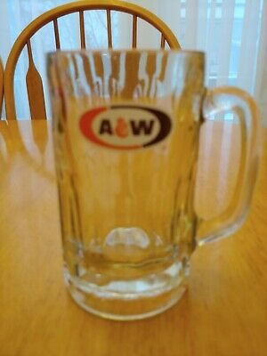 "Original A & W ROOT BEER Vintage GLASS MUG 6"" Tall RARE Vintage"