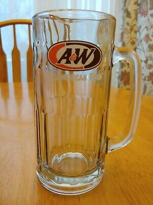 "Original A & W ROOT BEER Vintage GLASS MUG 7"" Tall RARE Vintage"