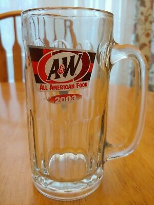 "Original A & W (2003) ROOT BEER Vintage GLASS MUG 7"" Tall RARE Vintage"