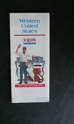 1977 Western United States  road map Exxon oil early interstate route 66