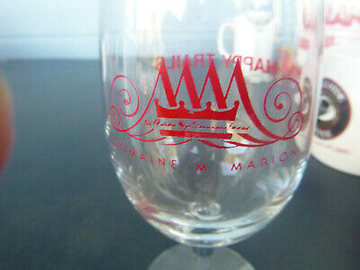 vintage Domaine M. Marion winery wine glass Los Gatos CA 6 inches 5 3/4""
