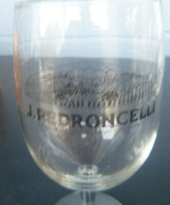 vintage J. Petroncelli Winery wine glass Geyserville  California 5 3/4""