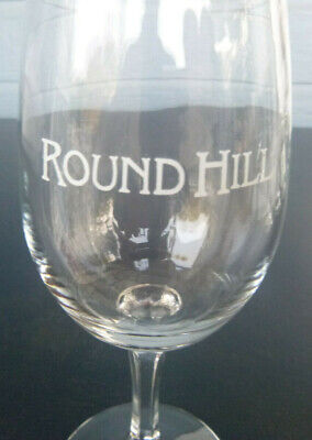 vintage Round Hill Vineyards  Winery wine glass Rutherford California 6""