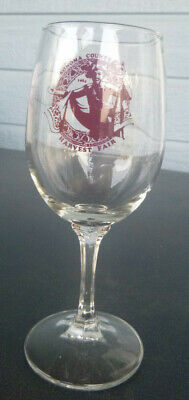 vintage 1984 Sonoma County Harvest Fair  Winery  wine glass  California 6 1/4""