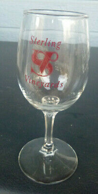vintage Sterling Vineyards winery wine glass Calistoga Napa Valley California 6""