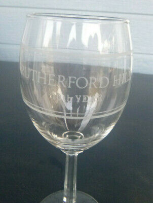 vintage Rutherford Hill Winery 10th year  wine glass Rutherford  California 7""