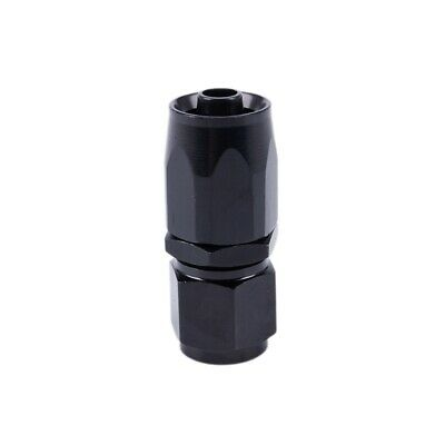 AN-6 (AN6) STRAIGHT FastFlow Black Hose Fitting S4W4