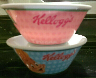 Kellogg's Cereal Bowls Set of 2 Excellent Condition