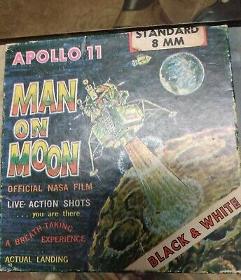 """Apollo 11 MAN ON THE MOON 8 mm """"Official Nasa Film """" by Castle Films Vintage"""