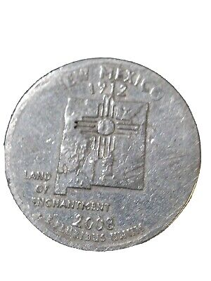 2008P *NEW *MEXICO *QUARTER/*missing rim TAKE A LOOK!