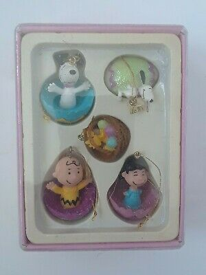 PEANUTS Handcrafted MINI  EASTER ORNAMENTS by Kurt S. Adler IN BOX