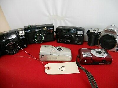 miscellaneous group of modern cameras lot 15