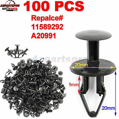 50 Pcs Fender Liner Clip Cowl Vent Retainer Push In Fastener Pin For GM For Ford