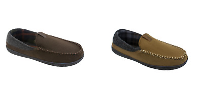 George Men/'s Chocolate Brown or Taupe Venetian Moccasin Slip-on Slippers Shoes