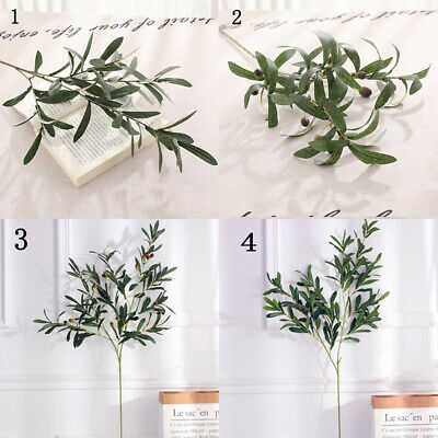 70cm Artificial Fake Olive Leaves Olive Tree Branches Green Leaf Plants Homes