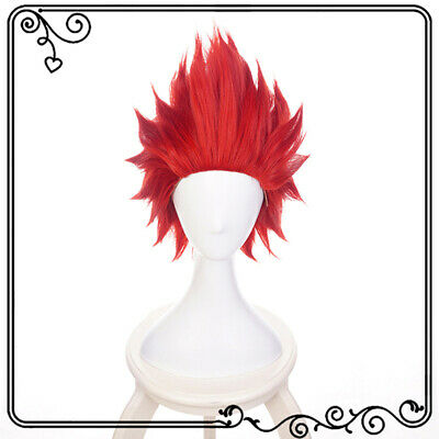 Anime Cartoon Characters Kirishima Eijiro Wine Red Wig Hair Cosplay Exhib_AW