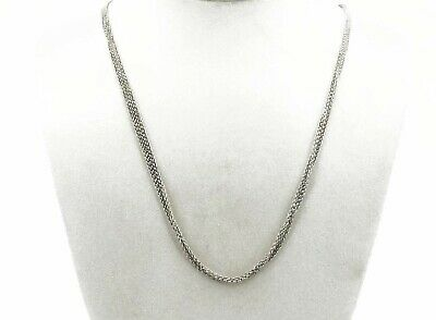 NEW 19.7INCH Solid 18K White Gold Necklace 1.3mm Round Link Chain Necklace