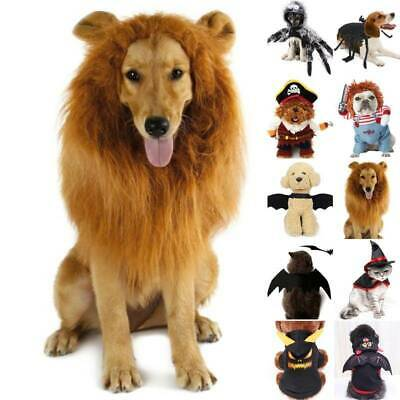 Halloween Pet Clothes Dog Puppy Cat Party Cosplay Funny Fancy Dress Up Costume