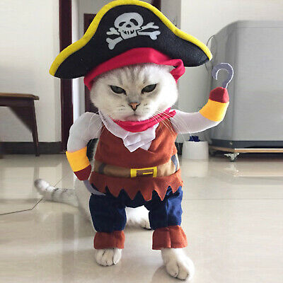 Funny Pet Clothes Cosplay Pirate Dog Cat Halloween Party Cute Comfort Costume