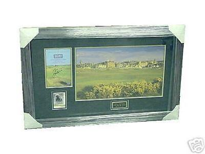 Jack Nicklaus Autographed British Open Collage
