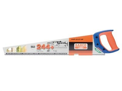 "BAHCO 22""/550mm BARRACUDA 244+ Hardpoint 7TPI Wood/Timber Cutting Hand Saw, 22in"