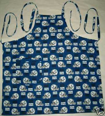 Barbeque Apron made with Indianapolis Colts NFL Football Cotton Fabric BBQ Grill