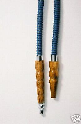 Leather hose for hookah or shisha with a metal tip