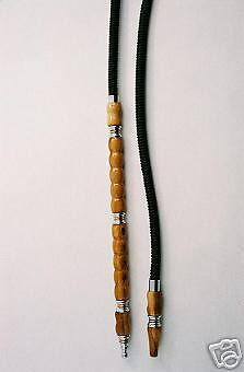 Leather hose for hookah or shisha with xtra long handle