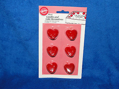 New Wilton Heart Candles And Cake Decorations 2811-9328