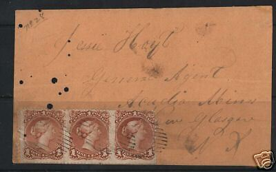 Canada #22 Strip Of 3 On Cover **With AIEP Cert.**