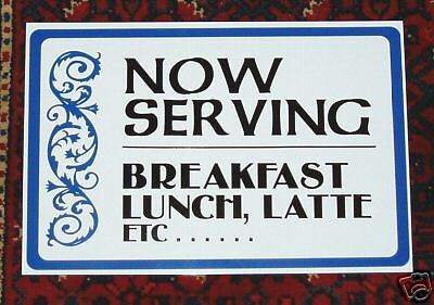 Restaurant Now Serving Breakfast Lunch Dinner Signs