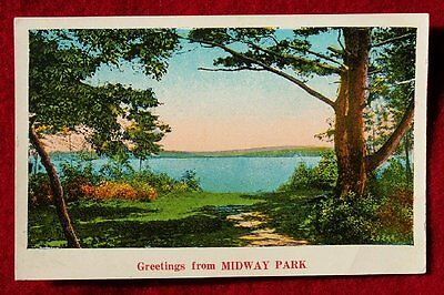 1930 Greetings NC NY Delaware New York Midway Park DE