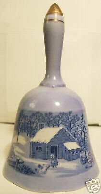 Currier and Ives Copenhagen Bell 1977 Limited Edition