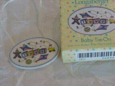 Longaberger 1999 Baby Pottery Tie-On - NEW