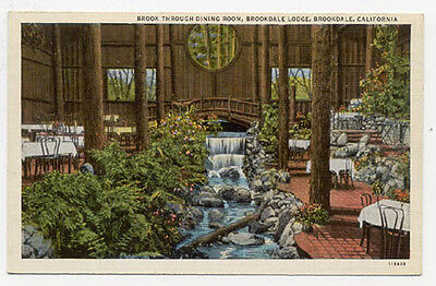 BROOKDALE LODGE CA Interior View Old Unused Postcard Pc753