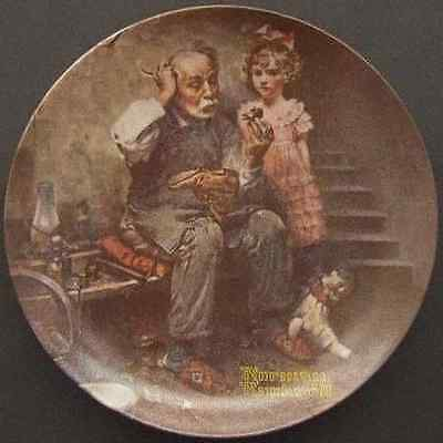 Norman Rockwell THE COBBLER Shoe Maker Doll 1978 Ltd Ed Plate