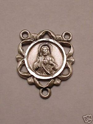 CATHOLIC STERLING SILVER Rosary Centerpiece